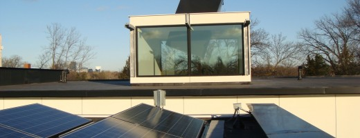 solar panels and skylight